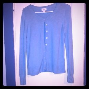 Old Navy baby blue cardigan sweater
